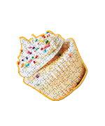 AREAWAREリトルパズルシングカップケーキ|エリアウェアケーキジグソーパズルステーショナリー