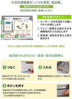 ヒーター・ファン・乾燥剤!