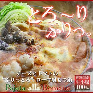 [もつ鍋]博多もつ鍋とトマト鍋がコラボ【送料無料】チーズとトマトのローマ風 もつ鍋イタリアン...