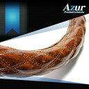 [Azur アズール] ハンドルカバー 木目ブラウン LMサイズ(外径約40.5~41.5cm)