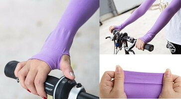 アームカバー指穴つきメンズ/レディースUVUPF50+日焼け防止テニスウォーキングジョギング自転車ドライブ全6色