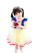 ハロウィン衣装子供白雪姫ワンピースこども女の子ドレスコスプレ衣装ミニドレスコスチューム仮装お姫様なりきりTDLプレゼントギフトイベントパーティー
