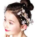 ヘアアクセサリー ヘアクリップ 子供 髪飾り (大小2個セット) ピア...
