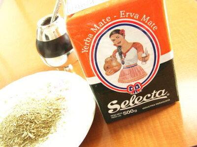 マテ茶茶葉500g南米飲料お試し特価で!グリーンマテセレクタ(Selectaダイエット健康健康食品健康茶)