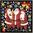 店舗看板シール ステッカー ラベル デコレーションシール 68534 サンタクロース クリスマス パーティー 発表会 雪だるま ウインターセール かわいい おしゃれ 低粘着 デカール( POP レストラン バー ショップ サインボード ブラックボード ホワイトボードに )