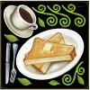 店舗看板シールステッカーラベルデコレーションシール(レストランカフェトーストコーヒーモーニングセット)68579(チョークアート掲示板サインボードブラックボードホワイトボードに店舗レストランパブカフェバー集客アップ)