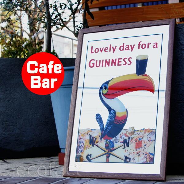 パブミラー バーミラー 鏡 壁掛け ギネスビール トゥーカン オオハシ(Guinness アイリッシュバー カフェ 風)