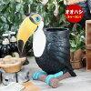 フィギュアオオハシ傘立て置物模型ボトルホルダオブジェトゥーカン鳥型ギネスビール「MYNAH」高さ30cm
