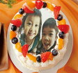写真ケーキ★お年賀★写真ケーキ4号サイズ フルーツたっぷり生クリーム バースデーケーキ デコレーション 誕生日ケーキ 4号 ホワイトデー2017 スイーツギフト