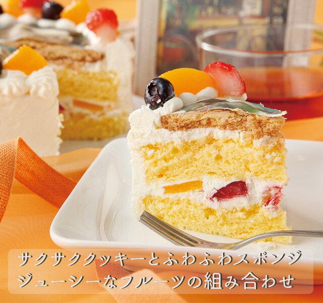丸い写真ケーキ