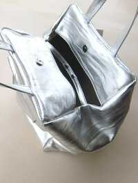 lesbasiquesレバジックBox型レザーハンドバッグSilverレディース送料無料