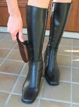 ブーツ専用お手入れブラシ(木目調仕上げ)