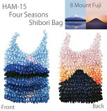 HAM-15 絞りバッグ四季 富士山(8MountFuji)【エコバッグ】【ANDO】【メール便配送・代引不可】