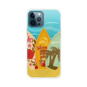 iPhone12ProMaxカバー/ケース シリコンケースよりもコシがありゴミがつきにくいTPUカバー 【サーフボード2 TPUソフトケース】APPLE iphone12promaxケース アイフォン12プロマックス ケース スマホケース 携帯ケース 携帯カバー ippm12