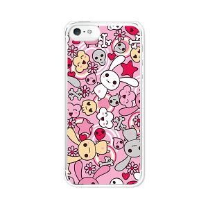 iPhone5 アイフォン5 ケース/カバー 【うさぎ うさうさうさうさ 塗装ケースベース】iphone5 i...