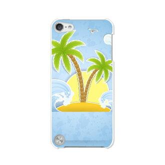 免運費的第5代iPod touch眼睛剥莢情况/覆蓋物Apple iPod touch5[南國夏威夷人假期清除情况材料]專用