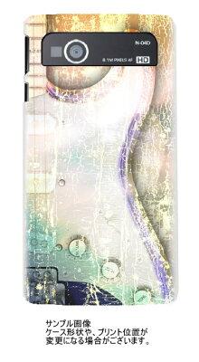 MEDIAS LTE N-04D 【カジュアルストラト 白打クリアケースベース】UV硬化印刷の保護ケース