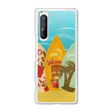 Xperia 1 II SO-51A/SOG01 共通 ケース/カバー 【サーフボード2 クリアケース素材】Xperia1マークツースマホケース エクスペリア1 2 エクスペディアso51a 携帯カバー 携帯ケース