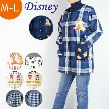 ディズニー キャラクター 割烹着 レディース フリーサイズ ミッキー ミニー マウス モンスターズ チップとデール ギフト プレゼント