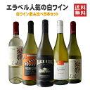 【送料無料】金賞受賞ラングドックのヴィオニエと人気のカリフォルニアワインが入ったエラベルの売れ筋白ワイン5本セット♪白ワイン ワインセット シャルドネ ヴィオニエ ソーヴィニヨン・ブラン