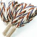 衿秀 帯締 帯締め おびしめ さざ波 乱れ矢羽根 より房 正絹 日本製 和装小物 和小物 2