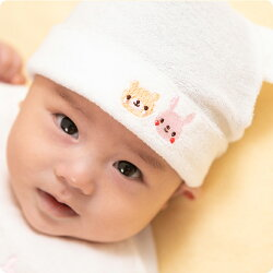 【帽子ベビー帽子ふわふわ赤ちゃん新生児動物アニマルアニマル刺繍アニマル柄日本製肌触り抜群甘撚り生地可愛いギフト出産祝い安心安全】