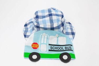 帽子日よけキッズ子供男の子女の子ピンク青バス柄布帛帽子ケーキ柄可愛い年中首ゴム付き取り外し可能人気