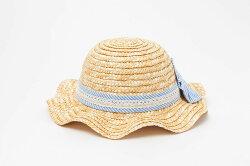 【2017年生産商品】帽子/キッズ/天然草/麦わら帽子リボン付き【48cm・50cm・52cm・54cmサイズ】