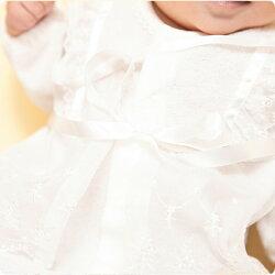 ベビードレスセレモニードレス(ドレス・フード2点セット)日本製ベビー服結婚式お宮参り長袖男の子女の子衣装出産祝いギフト新生児50cm60cm50cm60cm50cm60cm5060かわいい【あす楽】【ネコポス便対応】