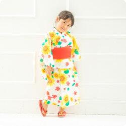 291bf0fc17937 楽天市場 浴衣 浴衣ドレス ワンピース 2way ひまわり柄 花柄 着脱簡単 ...