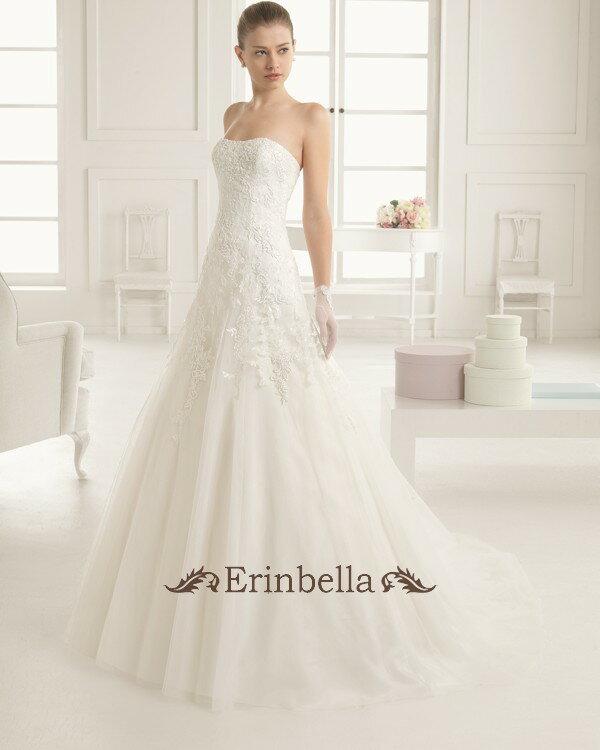 【オーダーメイド】【オーダードレス専門店】【早急オーダー対応可能】ウェディングドレス Aライン 花嫁 結婚式 二次会 披露宴 ブライダル 9A126:Erinbella