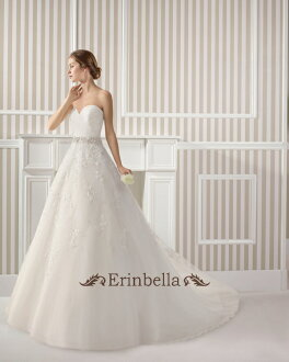 婚紗禮服露肩毛茸茸感 (TW0595)