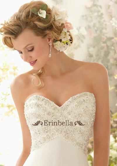 b52bcb94c1637 ... ウェディングドレスサイズオーダースレンダーライン花嫁結婚式二次会披露宴ブライダル ...