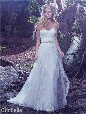 ウェディングドレススレンダーライン花嫁結婚式二次会披露宴ブライダル
