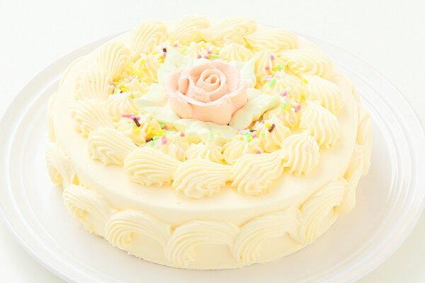 バタークリームケーキ 5号/バターケーキ/お祝い/誕生日/バースデーケーキ/売れ筋/おすすめ/エリヤ洋菓子店