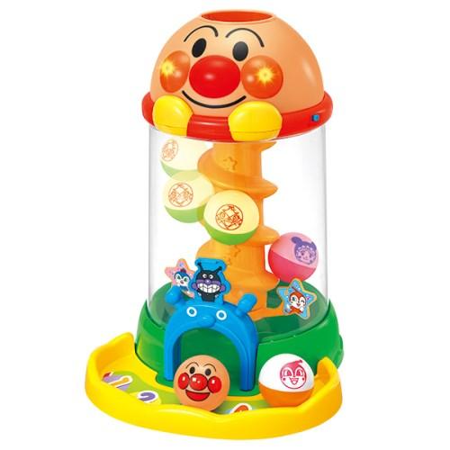 にぎって おとして 光るくるコロタワーおもちゃこども子供知育勉強アンパンマン