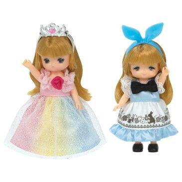 リカちゃんお洋服 LW-22 ミキちゃんマキちゃんドレスセット にじいろプリンセス&メルヘンワンピ おもちゃ こども 子供 女の子 人形遊び 洋服 3歳