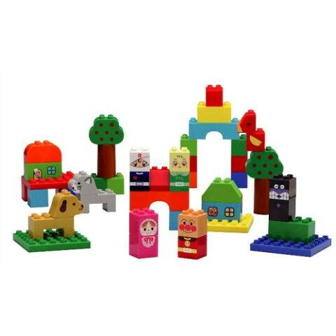 ブロックラボ ファーストシリーズ はじめてのブロックバケツL おもちゃ こども 子供 知育 勉強 1歳6ヶ月 アンパンマン