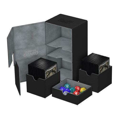 トレーディングカード・テレカ, トレーディングカード UltimateGuard Twin FlipnTray Deck Case 200 Standard Size XenoSkin Black