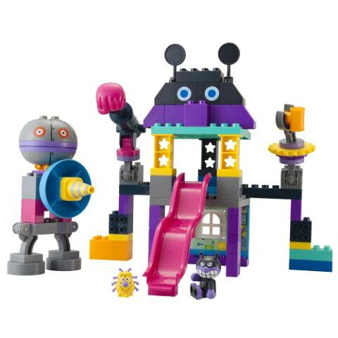 ブロックラボ バイキンじょうもつくれる!だだんだんブロックバケツおもちゃ こども 子供 知育 勉強 3歳 アンパンマン