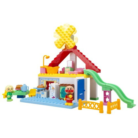ブロックラボ パン工場とすべり台のおうちブロックバケツ おもちゃ こども 子供 知育 勉強 3歳 アンパンマン