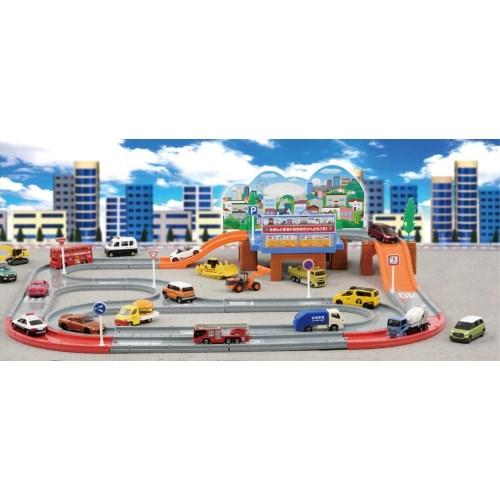 トミカワールドタウンどうろセットおもちゃこども子供男の子ミニカー車くるま3歳