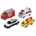 トミカ 緊急車両セット5 おもちゃ こども 子供 男の子 ミニカー 車 くるま 3歳