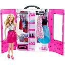 【送料無料】バービーとピンクなクローゼット おもちゃ こども 子供 女の子 人形遊び 小物 3歳