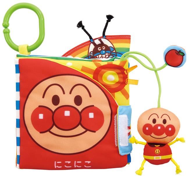 ベビラボアンパンマンしかけい〜っぱい!布えほんおもちゃこども子供知育勉強ベビー0歳3ヶ月