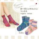 オーガニックコットン靴下 ボーダー柄 日本製【敏感肌 低刺激】