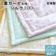 【半額以下】真綿布団 肌掛けタイプ 0.5kg シングル 絹 シルク 掛け布団 2重ガーゼ生地 真綿ふとん 真わた 日本製