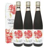 Queen'sZAKUROザクロ種子入りザクロジュース濃縮タイプクィーンズザクロ500ml3本セット