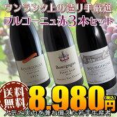 【送料無料】ブルゴーニュ赤ワイン3本セット(B)ワンランク上の造り手厳選