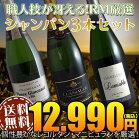 【送料無料】シャンパン3本セット(A)職人技の冴えるRM生産者
